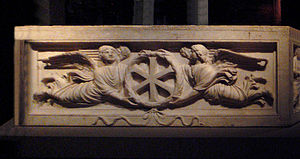 Sarcophagus - Constantinople Christian sarcophagus with XI monogram, c. 400