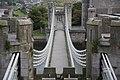 Conwy Suspension Bridge - view of bridge deck from W.jpg