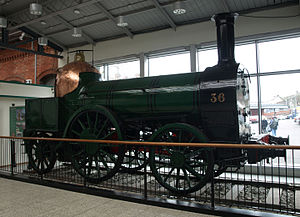 Cork International Exhibition (1902) - Locomotive No. 36, now on display at Cork Kent station, exhibited at the 1902 exhibition