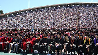 Schoellkopf Field - Cornell's 2008 commencement ceremony