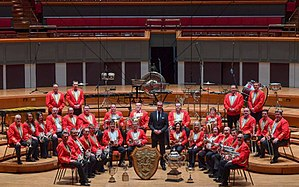 Cory Band - The Cory Band that achieved a grand slam of all British major titles in 2016.
