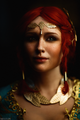 Cosplay of Triss Merigold in alternative outfit (The Witcher 3 Wild Hunt).png