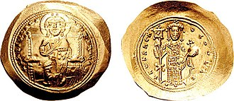 Byzantine Empire under the Doukas dynasty - Gold histamenon of Emperor Constantine X Doukas (r. 1059–1067).