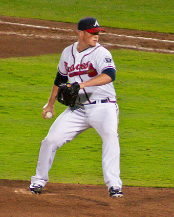 Braves closer Craig Kimbrel pitching in 2011 Craig Kimbrel 9-12-11.jpg