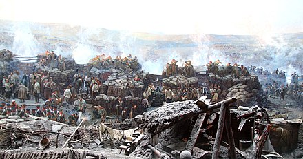 The eleven-month siege of a Russian naval base at Sevastopol during the Crimean War Crimea Sevastopol Istorychny boulevard Memorial complex-54.jpg