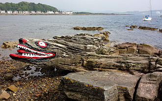 Millport, Cumbrae - Crocodile Rock on the foreshore