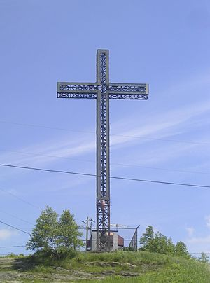 Victoriaville - Cross on top of Mount Arthabaska remade in 1929.