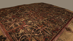 Lichfield Gospels - Cross carpet page