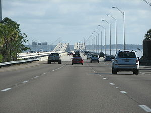 Interstate 295 (Florida) - I-295 at the Buckman Bridge
