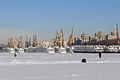 Cruise Ships in Winter at Moscow North River Port 10-feb-2015.jpg