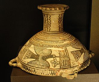 Boeotia - Boeotian cup from Thebes painted with birds, 560–540 BC (Louvre).