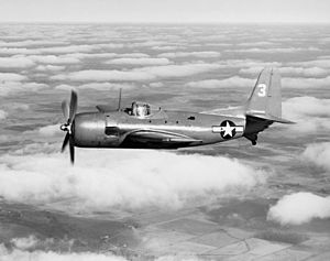 Curtiss XBT2C-1 No 3 in flight c1945.jpg