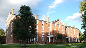 Cushing Hall - Cushing Hall at Hampden–Sydney. Front facade, from the south.