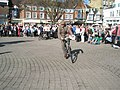Cyclist taking the racing line in The Square - geograph.org.uk - 1251812.jpg