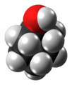Cyclohexanol molecule spacefill from xtal.png