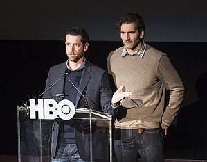 Game of Thrones - Showrunners D. B. Weiss and David Benioff created the series, wrote most of its episodes and directed several.