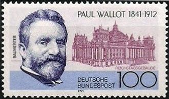 Paul Wallot - Special edition poststamp Deutsche Bundespost, 1991