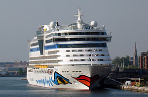 DEN-Copenhagen-AIDAbella cruise ship in port.JPG