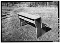 DETAIL OF COMBINATION BENCH-DESK - Little Greenbrier School and Church House, Wear Valley, Sevier County, TN HABS TENN,78-ELK.V,1-18.tif
