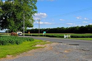 Delaware Route 20 - DE 20 eastbound in Omar