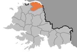Location of Ŭnch'ŏn County