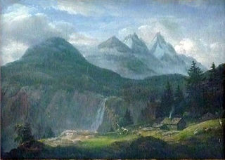Mountain Landscape with a Farm