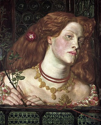 English and British royal mistress - Fair Rosamund, an imaginary portrait of Rosamund Clifford, the most famous mistress of King Henry II of England, by Dante Gabriel Rossetti