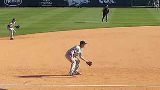 2013 South Carolina Gamecocks baseball team - LB Dantzler playing third base against Arkansas at Baum Stadium