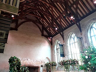 Dartington Hall - Dartington -  the Great Hall's hammerbeam roof