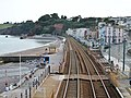 Dawlish railway station down & up platforms, South Devon main line, view towards Teignmouth.jpg