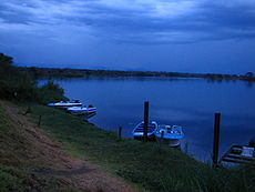 Dawn on the lower Zambezi river - Zambia.jpg