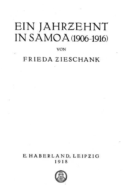 File:De Ein Jahrzehnt in Samoa (Zieschank).djvu