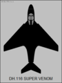 De Havilland DH.116 Super Venom top-view silhouette.png