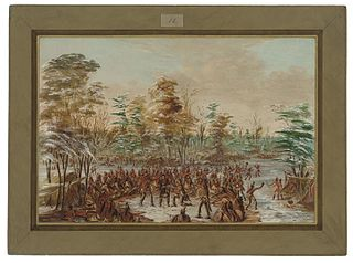 De Tonty Suing for Peace in the Iroquois Village.  January 2, 1680