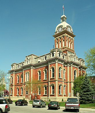 National Register of Historic Places listings in Adams County, Indiana - Image: Decatur indiana courthouse