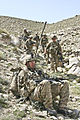 Defense.gov News Photo 110327-A-LD390-995 - U.S. Army 2nd Lt. Taylor Gingrich takes a breather after descending a mountain ridge in the Galuch valley of Laghman province Afghanistan on.jpg