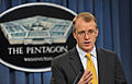 Defense.gov News Photo 120717-D-NI589-060 - Acting Assistant Secretary of Defense for Public Affairs George E. Little answers a reporter s question during a press conference in the Pentagon.jpg