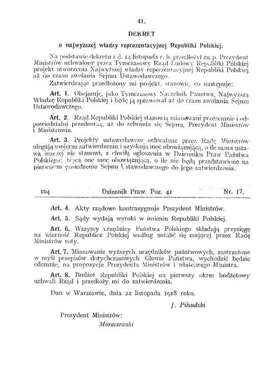 DEKRET Z 22 LISTOPADA 1918 DOWNLOAD