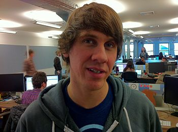 English: Dennis Crowley in Foursquare's New Yo...