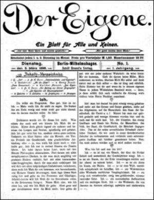 Der Eigene - Image: Der Eigene 1896