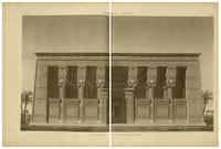Description of Egypt. 2nd edition. 1822. Vol. 4. Pl. 29 (New facade of Hathor temple).png