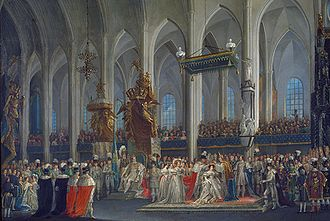 1829 in Sweden - Desideria of Sweden coronation 1829 by Fredric Westin