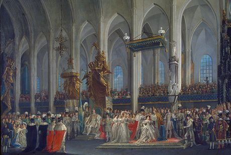 Desideria's Swedish coronation in 1829, by Fredric Westin. Desideria of Sweden coronation 1829 by Fredric Westin.jpg