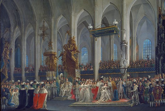 Desideria of Sweden coronation 1829 by Fredric Westin