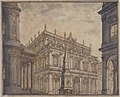 Design for a Stage Set- A Town Square with a Fountain. MET 80.3.644.jpg