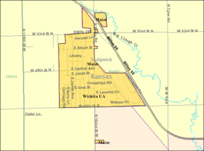 Detailed map of Maize, Kansas.png