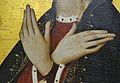 Detall de les mans de la Mare de Déu a l'Anunciació de Jacomart.JPG