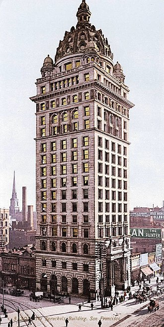 Central Tower (San Francisco) - Image: Detroit Photographic Company (0041)