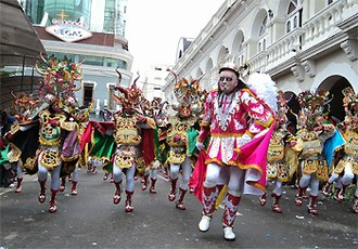 "Carnival - The Diablada, dance primeval, the typical and main dance of Carnaval de Oruro, a Masterpiece of the Oral and Intangible Heritage of Humanity since 2001 in Bolivia (Image: Fraternidad Artística y Cultural ""La Diablada"")"