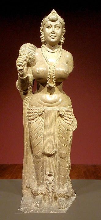 Yakshini - Image: Didarganj Yakshi statue in the Bihar Museum